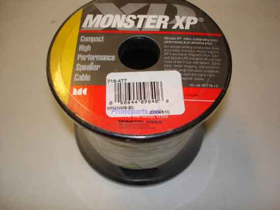 Monster XPNWMS 20 XP NAVAJO WHITE SPK CABLE 20 FT