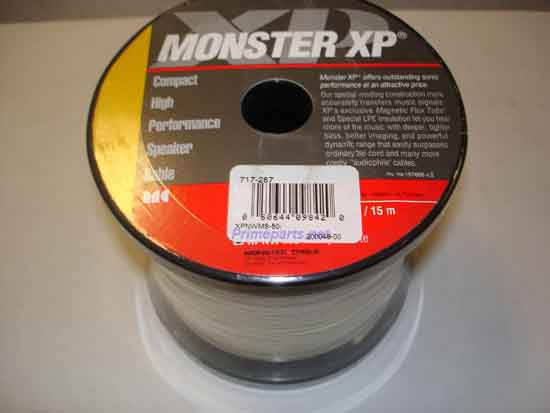 Monster XPNWMS 50 XP NAVAJO WHITE SPK CABLE 50 FT