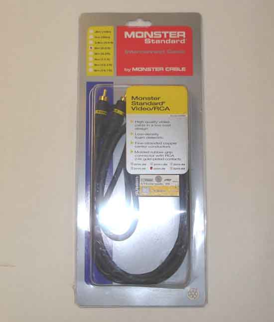 Monster 963-370 SV1R-2M RCA VIDEO CABLE 2 METERS