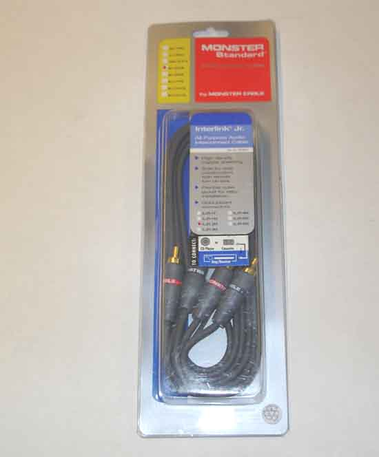 Monster 963-353 ILJR 2M AUDIO CABLE 2 METER Dual RCA w/ground